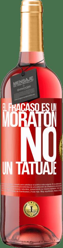 24,95 € Envío gratis   Vino Rosado Edición ROSÉ El fracaso es un moratón, no un tatuaje Etiqueta Roja. Etiqueta personalizable Vino joven Cosecha 2020 Tempranillo