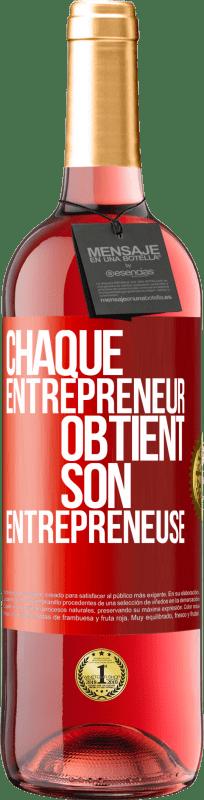 24,95 € Envoi gratuit | Vin rosé Édition ROSÉ Chaque entrepreneur obtient son entrepreneur Étiquette Rouge. Étiquette personnalisable Vin jeune Récolte 2020 Tempranillo