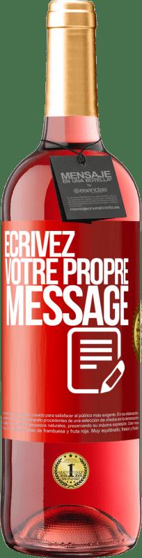 24,95 € Envoi gratuit | Vin rosé Édition ROSÉ Écrivez votre propre message Étiquette Rouge. Étiquette personnalisable Vin jeune Récolte 2020 Tempranillo