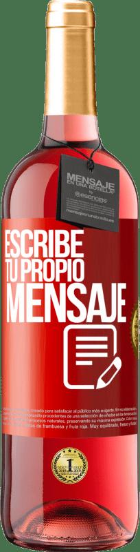 24,95 € Envío gratis   Vino Rosado Edición ROSÉ Escribe tu propio mensaje Etiqueta Roja. Etiqueta personalizable Vino joven Cosecha 2020 Tempranillo