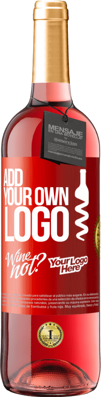 24,95 € Free Shipping | Rosé Wine ROSÉ Edition Add your own logo Red Label. Customizable label Young wine Harvest 2020 Tempranillo