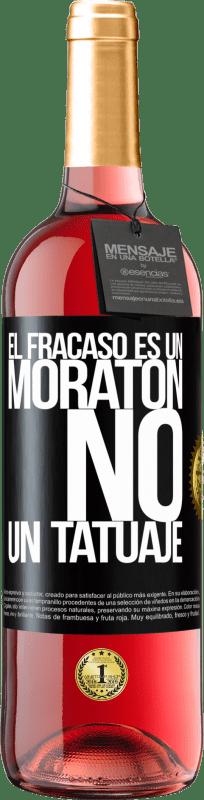 24,95 € Envío gratis   Vino Rosado Edición ROSÉ El fracaso es un moratón, no un tatuaje Etiqueta Negra. Etiqueta personalizable Vino joven Cosecha 2020 Tempranillo
