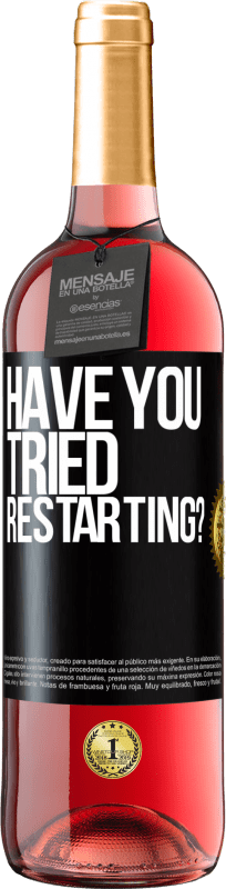 29,95 € Free Shipping   Rosé Wine ROSÉ Edition have you tried restarting? Black Label. Customizable label D.O. Cigales Young wine Harvest 2020 Spain Tempranillo