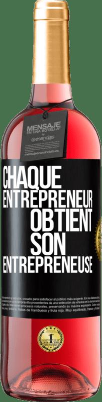 24,95 € Envoi gratuit | Vin rosé Édition ROSÉ Chaque entrepreneur obtient son entrepreneur Étiquette Noire. Étiquette personnalisable Vin jeune Récolte 2020 Tempranillo