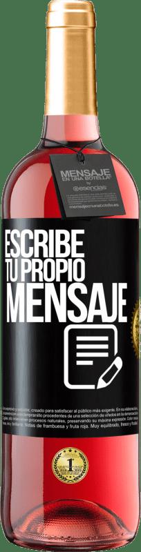 24,95 € Envío gratis   Vino Rosado Edición ROSÉ Escribe tu propio mensaje Etiqueta Negra. Etiqueta personalizable Vino joven Cosecha 2020 Tempranillo