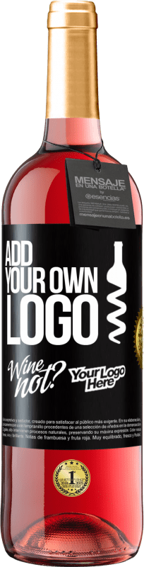24,95 € Free Shipping | Rosé Wine ROSÉ Edition Add your own logo Black Label. Customizable label Young wine Harvest 2020 Tempranillo