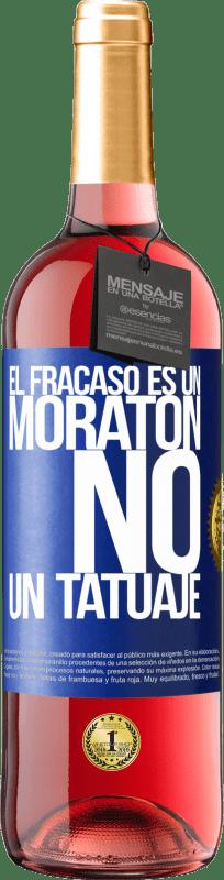 24,95 € Envío gratis   Vino Rosado Edición ROSÉ El fracaso es un moratón, no un tatuaje Etiqueta Azul. Etiqueta personalizable Vino joven Cosecha 2020 Tempranillo
