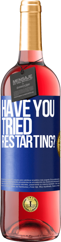 24,95 € Free Shipping | Rosé Wine ROSÉ Edition have you tried restarting? Blue Label. Customizable label Young wine Harvest 2020 Tempranillo