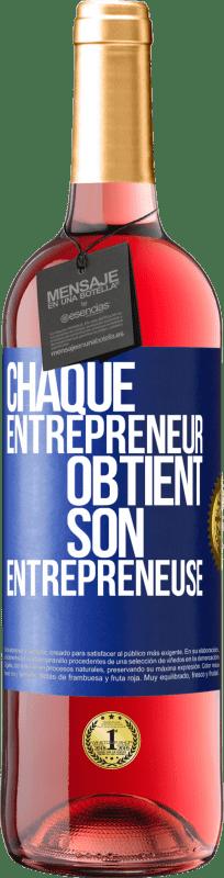 24,95 € Envoi gratuit | Vin rosé Édition ROSÉ Chaque entrepreneur obtient son entrepreneur Étiquette Bleue. Étiquette personnalisable Vin jeune Récolte 2020 Tempranillo