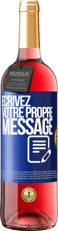 24,95 € Envoi gratuit | Vin rosé Édition ROSÉ Écrivez votre propre message Étiquette Bleue. Étiquette personnalisable Vin jeune Récolte 2020 Tempranillo