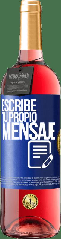 24,95 € Envío gratis   Vino Rosado Edición ROSÉ Escribe tu propio mensaje Etiqueta Azul. Etiqueta personalizable Vino joven Cosecha 2020 Tempranillo