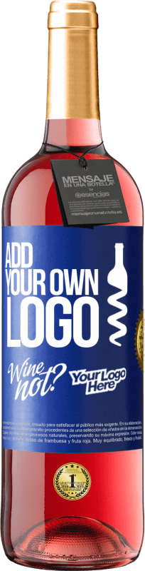 24,95 € Free Shipping | Rosé Wine ROSÉ Edition Add your own logo Blue Label. Customizable label Young wine Harvest 2020 Tempranillo