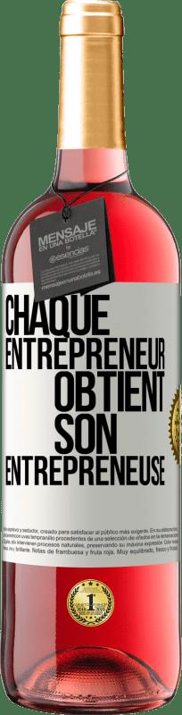 24,95 € Envoi gratuit | Vin rosé Édition ROSÉ Chaque entrepreneur obtient son entrepreneur Étiquette Blanche. Étiquette personnalisable Vin jeune Récolte 2020 Tempranillo