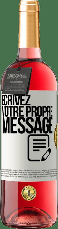24,95 € Envoi gratuit | Vin rosé Édition ROSÉ Écrivez votre propre message Étiquette Blanche. Étiquette personnalisable Vin jeune Récolte 2020 Tempranillo