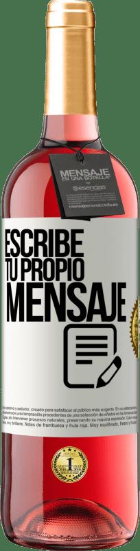 24,95 € Envío gratis   Vino Rosado Edición ROSÉ Escribe tu propio mensaje Etiqueta Blanca. Etiqueta personalizable Vino joven Cosecha 2020 Tempranillo