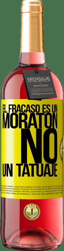 24,95 € Envío gratis   Vino Rosado Edición ROSÉ El fracaso es un moratón, no un tatuaje Etiqueta Amarilla. Etiqueta personalizable Vino joven Cosecha 2020 Tempranillo