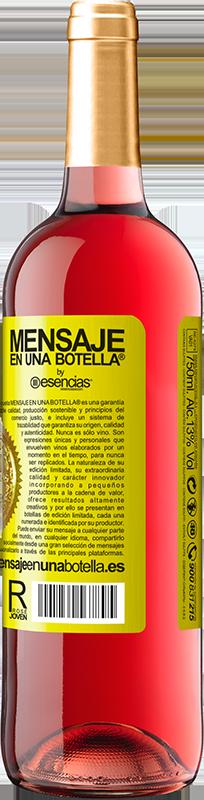 24,95 € Envoi gratuit   Vin rosé Édition ROSÉ Ce sentiment quand ils vous étreignent pendant que vous dormez et sentent leur souffle dans le cou, est quelque chose Étiquette Jaune. Étiquette personnalisable Vin jeune Récolte 2020 Tempranillo