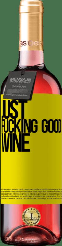 24,95 € Envoi gratuit | Vin rosé Édition ROSÉ Just fucking good wine Étiquette Jaune. Étiquette personnalisable Vin jeune Récolte 2020 Tempranillo