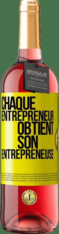24,95 € Envoi gratuit | Vin rosé Édition ROSÉ Chaque entrepreneur obtient son entrepreneur Étiquette Jaune. Étiquette personnalisable Vin jeune Récolte 2020 Tempranillo