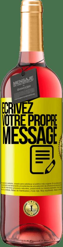 24,95 € Envoi gratuit | Vin rosé Édition ROSÉ Écrivez votre propre message Étiquette Jaune. Étiquette personnalisable Vin jeune Récolte 2020 Tempranillo