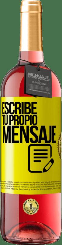 24,95 € Envío gratis   Vino Rosado Edición ROSÉ Escribe tu propio mensaje Etiqueta Amarilla. Etiqueta personalizable Vino joven Cosecha 2020 Tempranillo