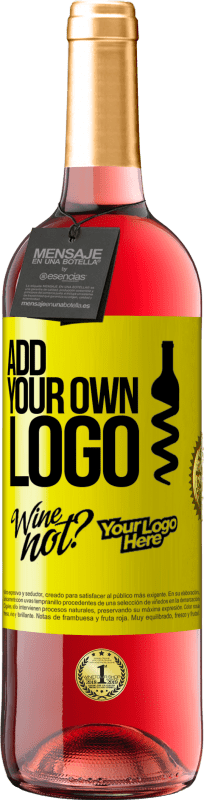 24,95 € Free Shipping | Rosé Wine ROSÉ Edition Add your own logo Yellow Label. Customizable label Young wine Harvest 2020 Tempranillo