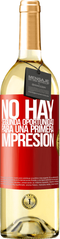 29,95 € Free Shipping | White Wine WHITE Edition There is no second chance for a first impression Red Label. Customizable label Young wine Harvest 2020 Verdejo