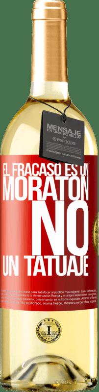 24,95 € Envío gratis   Vino Blanco Edición WHITE El fracaso es un moratón, no un tatuaje Etiqueta Roja. Etiqueta personalizable Vino joven Cosecha 2020 Verdejo