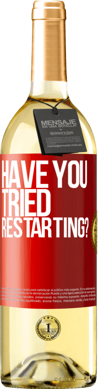 29,95 € Free Shipping   White Wine WHITE Edition have you tried restarting? Red Label. Customizable label D.O. Rueda Young wine Harvest 2020 Spain Verdejo