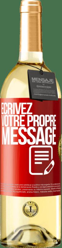 24,95 € Envoi gratuit | Vin blanc Édition WHITE Écrivez votre propre message Étiquette Rouge. Étiquette personnalisable Vin jeune Récolte 2020 Verdejo