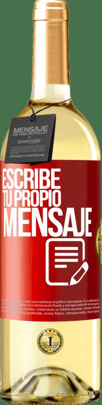 24,95 € Envío gratis   Vino Blanco Edición WHITE Escribe tu propio mensaje Etiqueta Roja. Etiqueta personalizable Vino joven Cosecha 2020 Verdejo