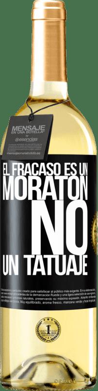 24,95 € Envío gratis   Vino Blanco Edición WHITE El fracaso es un moratón, no un tatuaje Etiqueta Negra. Etiqueta personalizable Vino joven Cosecha 2020 Verdejo