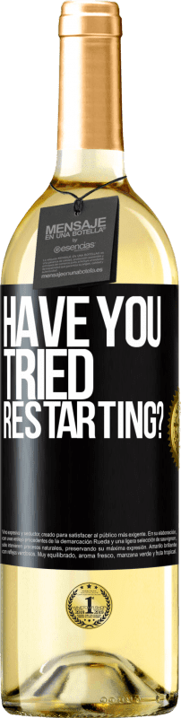29,95 € Free Shipping   White Wine WHITE Edition have you tried restarting? Black Label. Customizable label D.O. Rueda Young wine Harvest 2020 Spain Verdejo