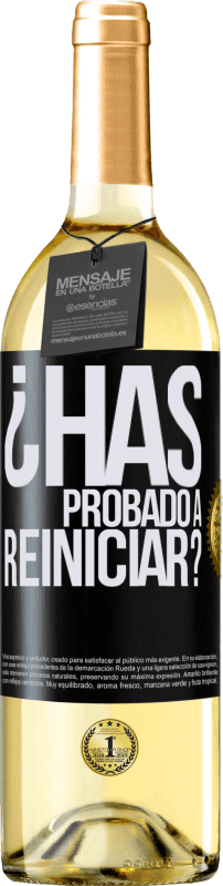 29,95 € Free Shipping | White Wine WHITE Edition have you tried restarting? Black Label. Customizable label Young wine Harvest 2020 Verdejo
