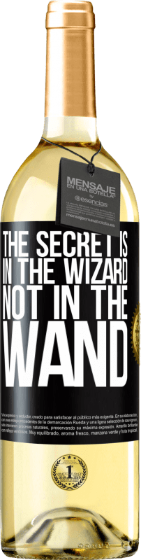 24,95 € Free Shipping | White Wine WHITE Edition The secret is in the wizard, not in the wand Black Label. Customizable label Young wine Harvest 2020 Verdejo