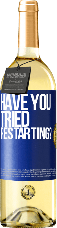 29,95 € Free Shipping   White Wine WHITE Edition have you tried restarting? Blue Label. Customizable label D.O. Rueda Young wine Harvest 2020 Spain Verdejo