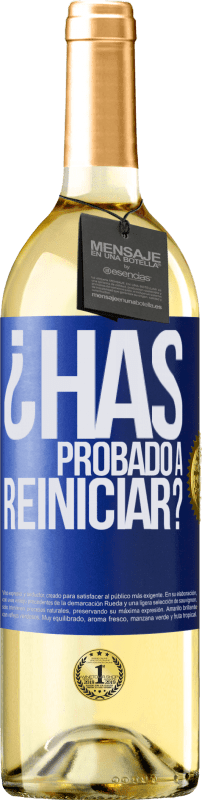 29,95 € Free Shipping | White Wine WHITE Edition have you tried restarting? Blue Label. Customizable label Young wine Harvest 2020 Verdejo