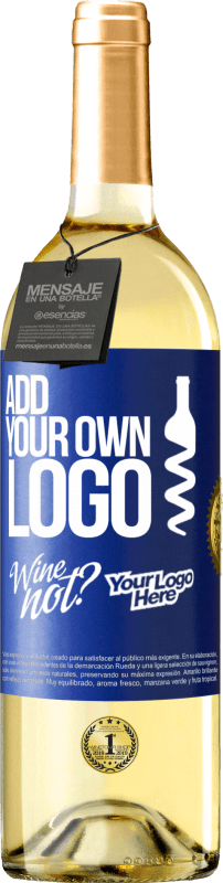 24,95 € Free Shipping | White Wine WHITE Edition Add your own logo Blue Label. Customizable label Young wine Harvest 2020 Verdejo