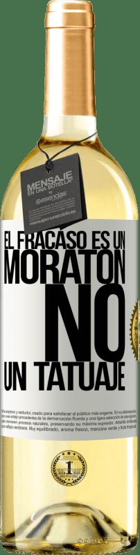 24,95 € Envío gratis   Vino Blanco Edición WHITE El fracaso es un moratón, no un tatuaje Etiqueta Blanca. Etiqueta personalizable Vino joven Cosecha 2020 Verdejo