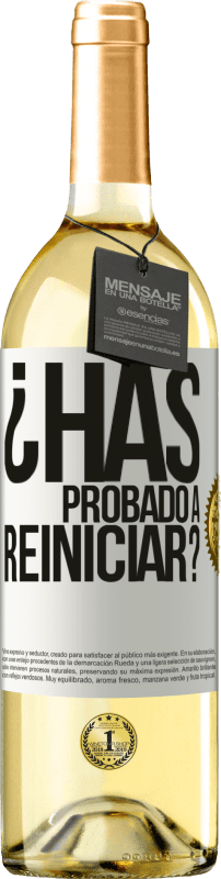 29,95 € Free Shipping | White Wine WHITE Edition have you tried restarting? White Label. Customizable label Young wine Harvest 2020 Verdejo