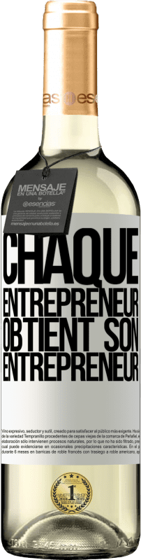 24,95 € Envoi gratuit | Vin blanc Édition WHITE Chaque entrepreneur obtient son entrepreneur Étiquette Blanche. Étiquette personnalisable Vin jeune Récolte 2020 Verdejo