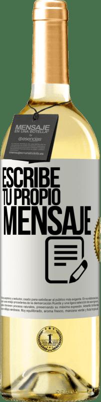 24,95 € Envío gratis   Vino Blanco Edición WHITE Escribe tu propio mensaje Etiqueta Blanca. Etiqueta personalizable Vino joven Cosecha 2020 Verdejo