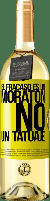 24,95 € Envío gratis   Vino Blanco Edición WHITE El fracaso es un moratón, no un tatuaje Etiqueta Amarilla. Etiqueta personalizable Vino joven Cosecha 2020 Verdejo