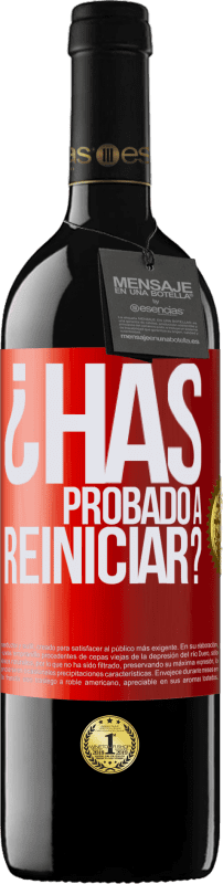 29,95 € Free Shipping | Red Wine RED Edition Crianza 6 Months have you tried restarting? Red Label. Customizable label Aging in oak barrels 6 Months Harvest 2018 Tempranillo