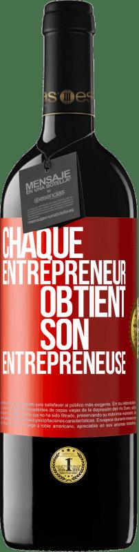 24,95 € Envoi gratuit | Vin rouge Édition RED Crianza 6 Mois Chaque entrepreneur obtient son entrepreneur Étiquette Rouge. Étiquette personnalisable Vieillissement en fûts de chêne 6 Mois Récolte 2018 Tempranillo