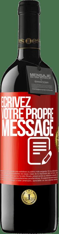 24,95 € Envoi gratuit | Vin rouge Édition RED Crianza 6 Mois Écrivez votre propre message Étiquette Rouge. Étiquette personnalisable Vieillissement en fûts de chêne 6 Mois Récolte 2018 Tempranillo