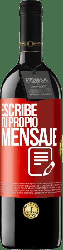 24,95 € Envío gratis   Vino Tinto Edición RED Crianza 6 Meses Escribe tu propio mensaje Etiqueta Roja. Etiqueta personalizable Crianza en barrica de roble 6 Meses Cosecha 2018 Tempranillo