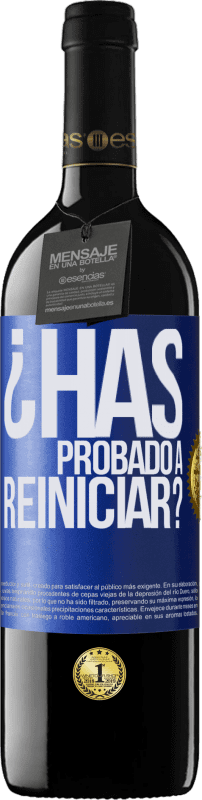 29,95 € Free Shipping | Red Wine RED Edition Crianza 6 Months have you tried restarting? Blue Label. Customizable label Aging in oak barrels 6 Months Harvest 2018 Tempranillo