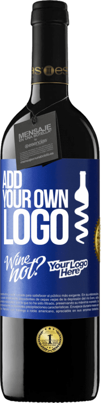24,95 € Free Shipping | Red Wine RED Edition Crianza 6 Months Add your own logo Blue Label. Customizable label Aging in oak barrels 6 Months Harvest 2018 Tempranillo