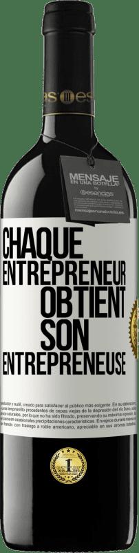 24,95 € Envoi gratuit | Vin rouge Édition RED Crianza 6 Mois Chaque entrepreneur obtient son entrepreneur Étiquette Blanche. Étiquette personnalisable Vieillissement en fûts de chêne 6 Mois Récolte 2018 Tempranillo
